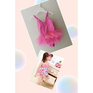Two Baby Girls Swimwear One Piece New size 3-6, 6-